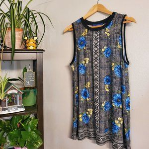 Apt 9 Floral and Geometric top NWT Size XL